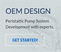 Custom design services for peristaltic pumping